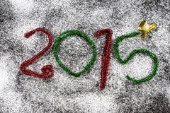 Figure del nuovo anno 2015 Fotografia Stock Libera da Diritti