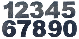 Figure denim numbers Stock Photos