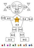 Figure des formes géométriques avec des exemples numériques pour les enfants en bas âge Images stock