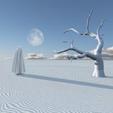 Figure in desert Stock Images