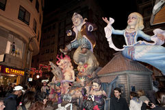 Figure di carta del mache, Valencia, Fallas Immagine Stock