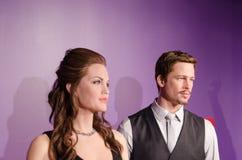 Figure di cera di joline di Angelina e di Brad Pitt fotografie stock