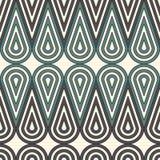 Figure di collegamento arrotondate blu pastello ripetute Ornamento geometrico senza cuciture Motivo astratto di forma della gocci illustrazione vettoriale