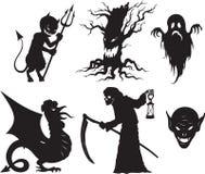 Figure di Halloween Immagini Stock Libere da Diritti