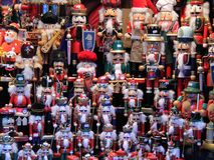 Figure di legno. Fotografia Stock