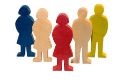 Figure di legno Fotografie Stock Libere da Diritti