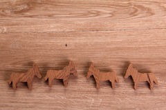 Figure di legno Immagine Stock Libera da Diritti