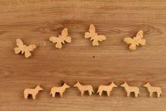 Figure di legno Fotografia Stock