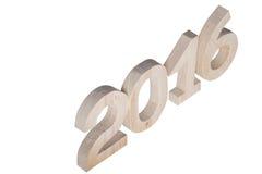 Figure di legno leggere 2016 su fondo Fotografia Stock