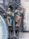 Figure di morte (scheletro) e del Turco Fotografie Stock Libere da Diritti