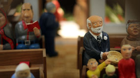 Figure di Natale scolpite mano Fotografie Stock