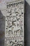 Figure di sbriciolatura del muro di cemento Fotografia Stock Libera da Diritti