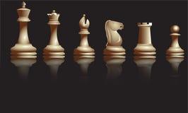 Figure di scacchi Fotografia Stock