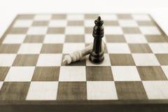 Figure di scacchi a bordo Fotografie Stock Libere da Diritti
