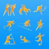 Figure di sport illustrazione vettoriale