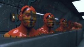 Figure di umanoide della clonazione royalty illustrazione gratis
