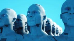 Figure di umanoide della clonazione illustrazione di stock