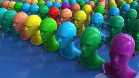 Figure di umanoide della clonazione illustrazione vettoriale