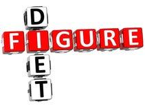 Figure Diet Crossword Stock Photos