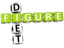 Figure Diet Crossword Royalty Free Stock Images