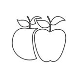 Figure differents apples icon Royalty Free Stock Photo