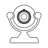 Figure digital computer camera icon Royalty Free Stock Photo