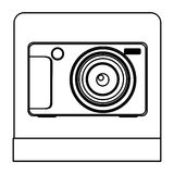 Figure digital professional camera icon Royalty Free Stock Photo