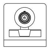Figure digital webcam technology computer Stock Image