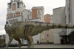 The figure of a dinosaur in front of the State Darwin Museum , M Stock Photos