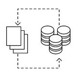 Figure distributed database icon image design. Illustration Royalty Free Stock Photography
