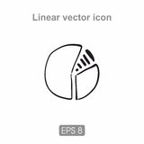 Figure divided into 3 parts. Icon holds circuit can be used in printing, web design and much more Royalty Free Stock Image