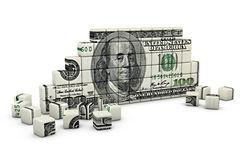 The figure of a dollar. The figure of the cubes in the shape of a dollar Royalty Free Stock Photography