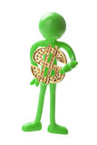 Figure with Dollar Sign Royalty Free Stock Image