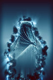 Figure Dressed in Traditional Burqa Stock Photos