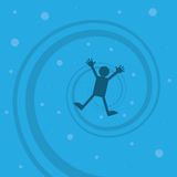 Figure Drowning. Sinking to the bottom Royalty Free Stock Photography