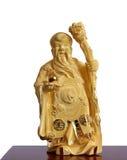 Figure du moine chinois de l'or Photos libres de droits