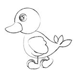 Figure duck walking icon. Illustraction design Stock Photography