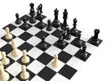 Figure e bordo di scacchi Fotografie Stock