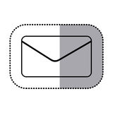 Figure e-mail message icon. Illustraction design Royalty Free Stock Photography