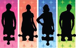 Figure e puzzle Immagini Stock Libere da Diritti