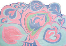 Figure Ebru. Picture of Ebru, hand painted in water colors from natural dyes Stock Photos