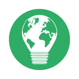 Figure eco planet bulb design. Illustration image Stock Photography