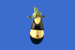 Figure of an eggplant. Thick eggplant - the cut out figure from a vegetable of an eggplant Royalty Free Stock Photo