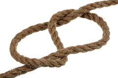 Figure-eight knot Stock Photos