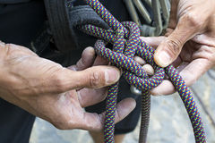 Figure eight knot re-threaded Stock Image
