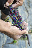 Figure eight knot re-threaded Royalty Free Stock Images