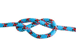 Figure-eight knot tie Stock Image