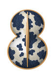 Figure of eight shield. Ancient  Greek cow skin shield Royalty Free Stock Photography