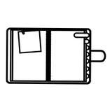 figure el orden del día con las etiquetas y el icono de papel de la nota Foto de archivo libre de regalías
