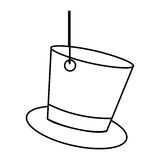 Figure elegant hanging hat icon. Illustration design Stock Image